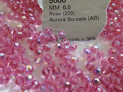 lot de 30 perle en cristal de SWAROVSKI rose AB diam 6...
