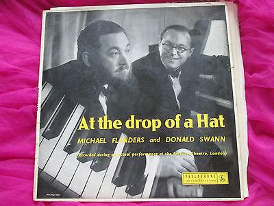 Flanders & Swann At The Drop Of A Hat EMI Records PMC 1033 UK Vinyl LP album