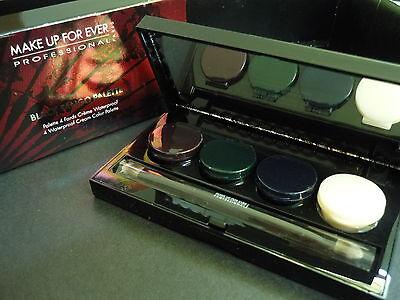 MAKEUP FOREVER Black Tango Palette 4 Aqua Cream Waterproof Eyeshadow/Liner NIB