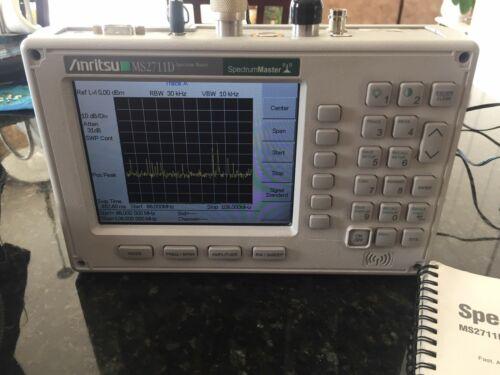 Anritsu MS2711D Handheld Spectrum Analyzer 100 kHz to 3 GHz, color, option /3/21