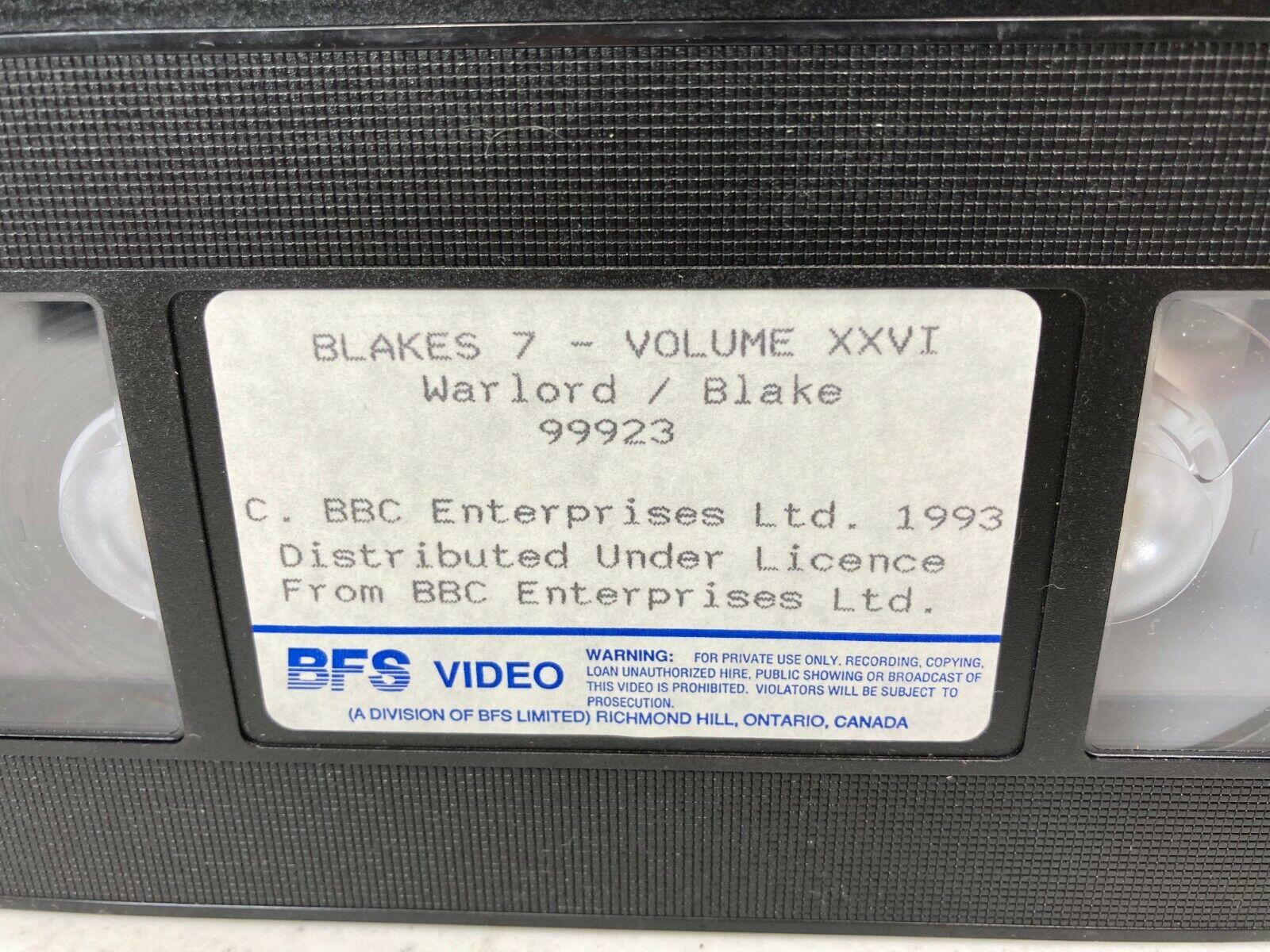 Blakes 7 Vol 26 Warlord Blake VHS BFS Video BBC - $19.95