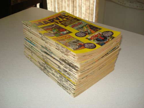 31 ISSUES OF MARVEL TALES & MARVEL SUPER HEROES, FAT 25 CENTERS, 1966-71, NICE