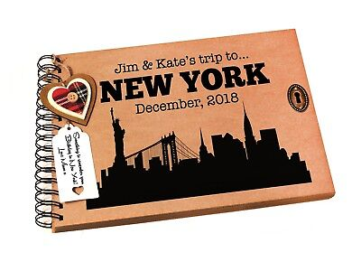 Personalised New York Photo Album, Family Scrapbook, Travel Book, Gift Idea