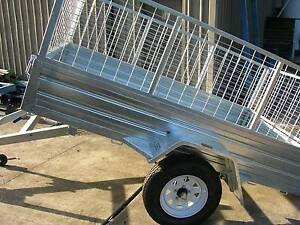 Tilt Box Trailer with Cage  7 x 5 Penrith Penrith Area Preview