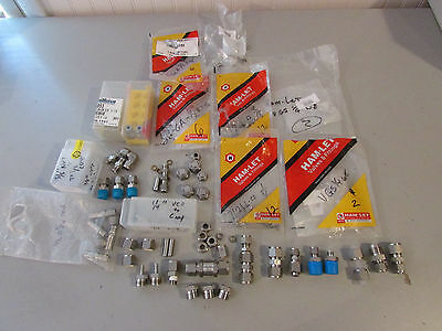Ham-let Swagelok Stainless Steel Ss Fittings Lot Of Over 40 Pieces 14 - 12