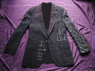 BAM MARGERA HAGGARD JACKET M, L, XL HIM ville valo blazer shirt rock concert