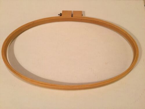 """LARGE  OVAL QUILTING EMBROIDERY HOOP 20"""" X 12"""""""