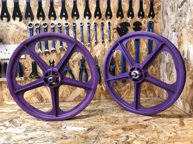 "Skyway Tuff 20"" BMX Mag Wheels, Purple,Retro, Freestyle, Old School, Mid School."