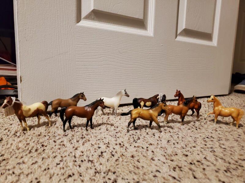 Breyer Stablemates Vintage 9 Horse Lot