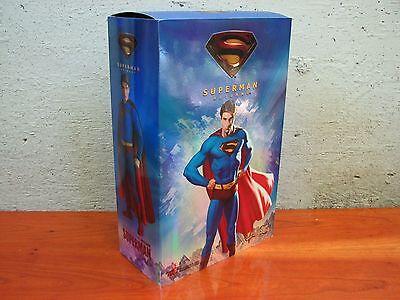 "HOT TOYS MMS 14 12"" SUPERMAN Figure SUPERMAN RETURNS Brandon Routh 2006 MIB"