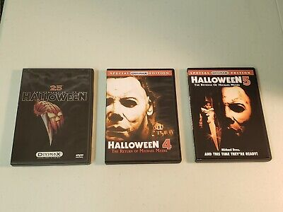 Lot of 3 DVD from the Halloween Series (1, 4 & 5) Special Edition DIVIMAX](Halloween Series Dvd)
