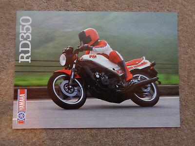 RARE GENUINE ORIGINAL 1985 YAMAHA RD350LC MOTORCYCLE BROCHURE-  RD250LC