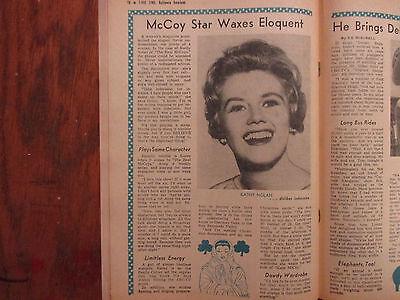Sept 1960 Baltimore American T Vue Time Magazi Kathy Nolan Lumpy Brannum Bonanza