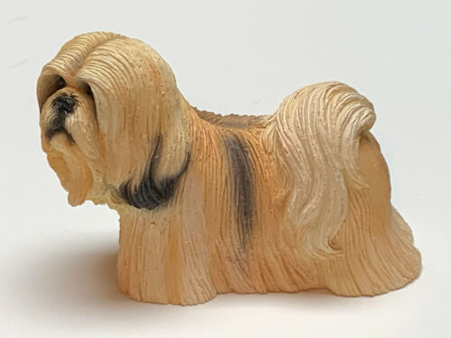 LHASO APSO DOG Figurine Statue Hand Painted Resin Living Stone