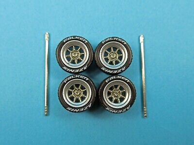 1/64 Wheels 1/64 Wheel and Tire Set Real Riders Hayashi Type CR Silver