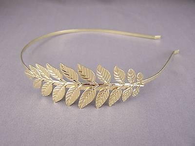 Gold Laurel wreath Leaf crown Leaves headband hair band greek toga roman costume