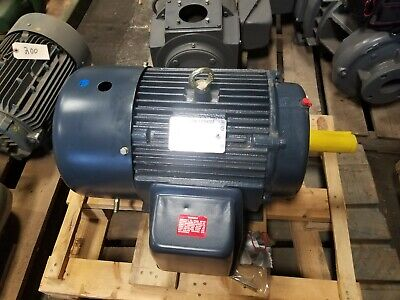 New Leeson 15 Hp Electric Ac Motor 230460 Vac 1770 Rpm 254t Frame 3 Phase