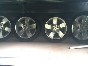 "4x17"" ALLOY XR6/XR8 wheels and tyres Beaconsfield Upper Cardinia Area Preview"