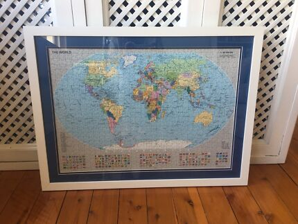 Framed print of old new zealand map art gumtree australia manly world map gumiabroncs Gallery
