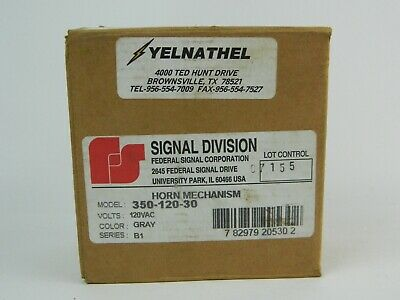 Federal Signal 350-120-30 Horn Mechanism 120 Vac