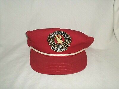 NEW VINTAGE FIRESTONE RACING SNAPBACK RED TRUCKER DAD HAT CAP W// ROPE TRIM