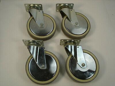 4 Rhombus 6 Inch Caster Wheels Swivel Plate Polyurethane Germany Ball Bearing