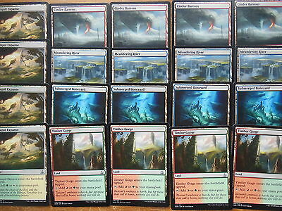 XXX 20 OATH OF THE GATEWATCH DUAL LANDS meandering river, timber gorge...NM/MINT
