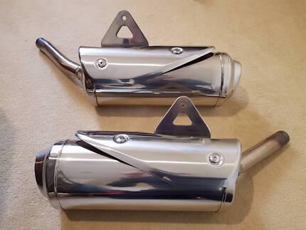 Triumph Street Triple OEM exhaust cans 2007 - 2012