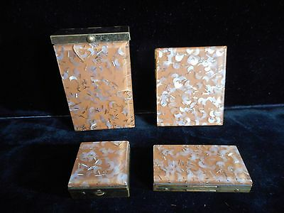 Vintage Lot Saks Fifth Avenue Compact, Pill, Cigarette Case Glitter Confetti