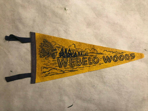"Vintage Webelo Woods Felt Pennant Boy Scouts 16.5"""