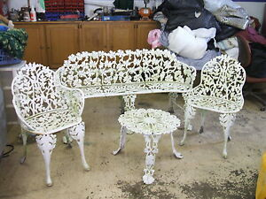 vintage wrought iron patio furniture set ebay