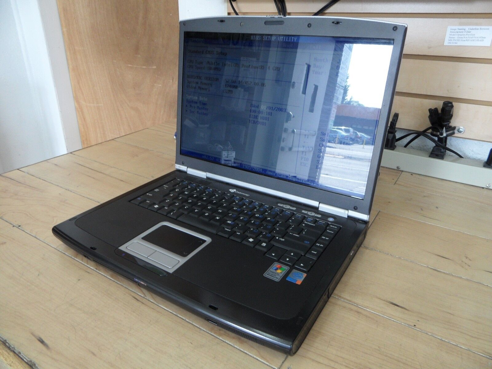 Gateway 7322 Laptop For Parts Posted Bios 60GB Hard Drive Wiped *