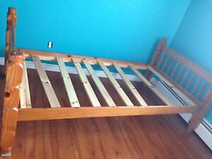 Bed frame and mattress single
