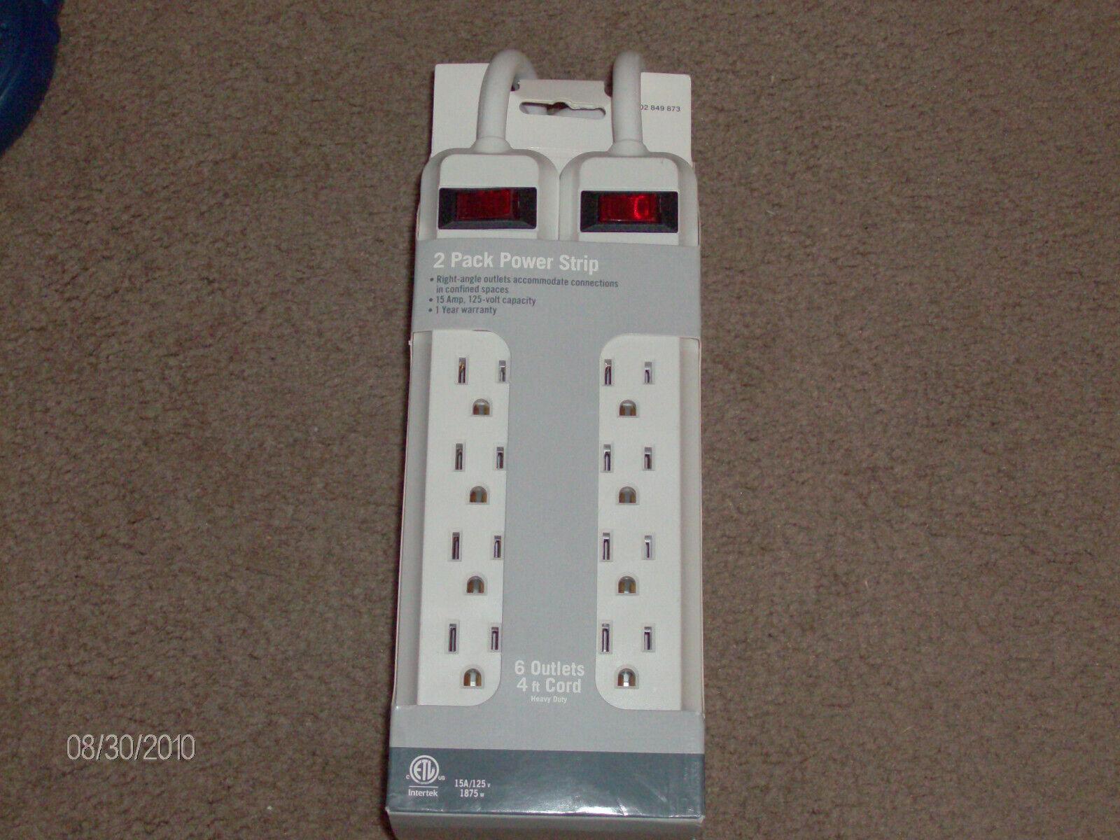 Power Strip! Brand NEW 2 Pack Power Strip! 15amp 125 volt! 6
