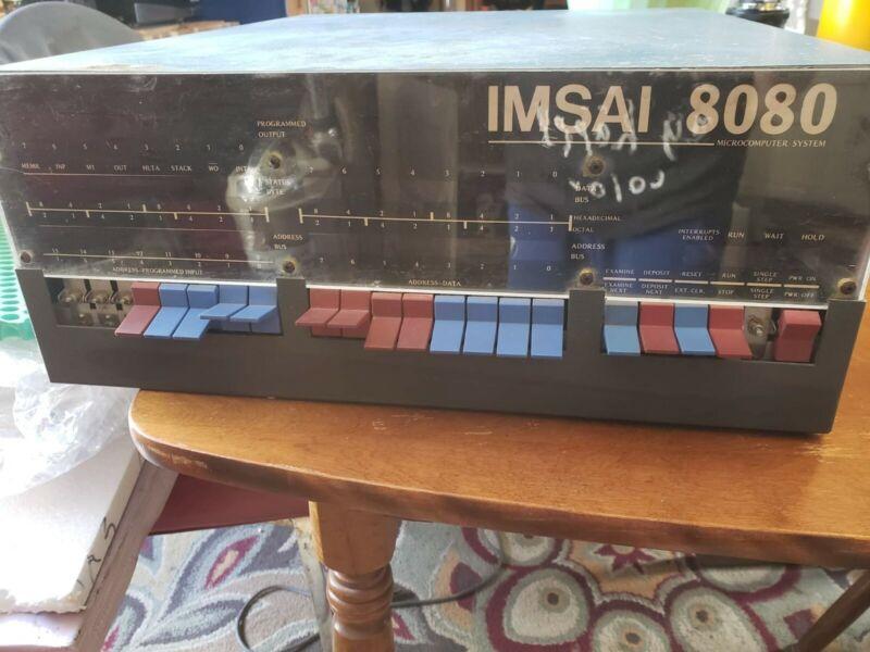 Vintage Imsai 8080 microcomputer with boards.  Nice example.