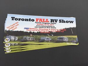 Tickets to the Toronto RV Show