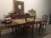 French Provincial 1900's Extention Dining Table and Chairs   Berwick Casey Area Preview