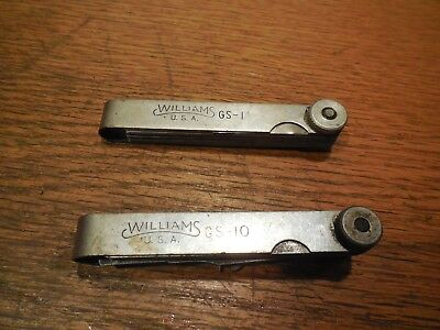 2 Williams Feeler Gage Sets Gs-1 Gs-10