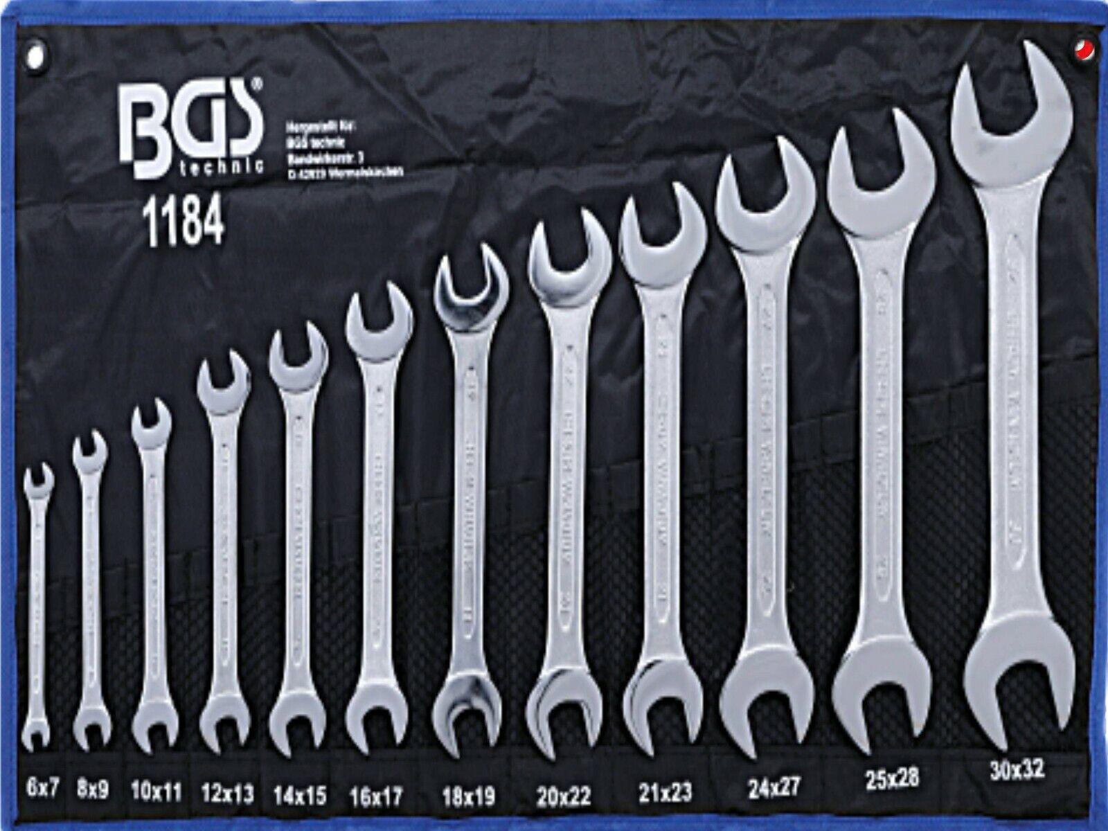 BGS 12-tlg Satz Doppel Maulschlüssel DIN3110 Doppelmaulschlüssel Gabelschlüssel