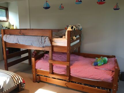 Bunk bed and trundle for sale