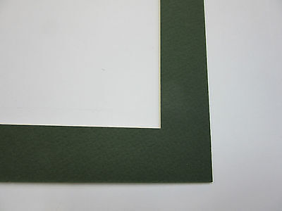 Picture Framing Mat CUSTOM SIZE with Everglade and  White Core