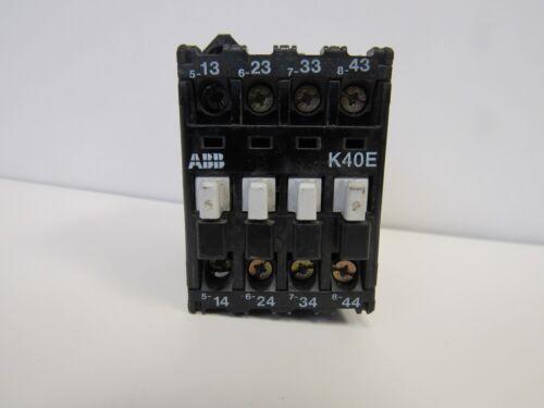 ABB K40E CONTACTOR 10A 110/120 VAC COIL USED