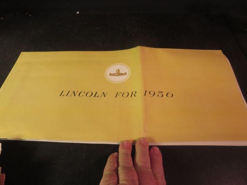 Original 1956 Lincoln Sales Brochure
