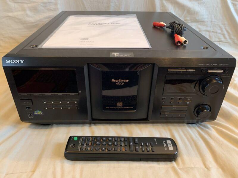 —FRESH BELTS, SERVICED—Sony CDP-CX455 CD Mega Changer 400 DISC Changer W/ Remote