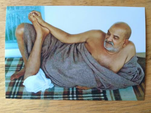 "WONDROUS PHOTO NEEM KAROLI BABA MAHARAJJI GURU SAINT INDIA 4"" x 6"" MAGICAL MUDRA"