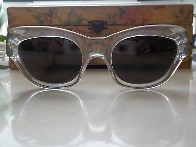 LA Eyeworks Louie 100 Clear Crystal Sunglasses Made in France (Louie Shades)