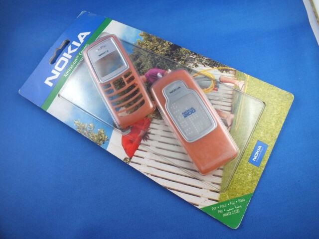 Original Nokia 2100 Xpress-on Front Back Cover 0274136 CC-3D ORANGE Handyschale