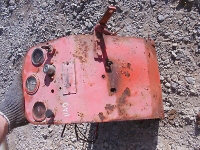 Case Vao Tractor Dash Panel Battery Platform W Gauges Wires Good Serial Tag
