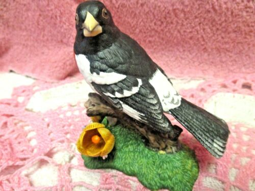 Lenox Rose - breasted Grosbeak Figurine Fine Porcelain Garden Bird Collectible