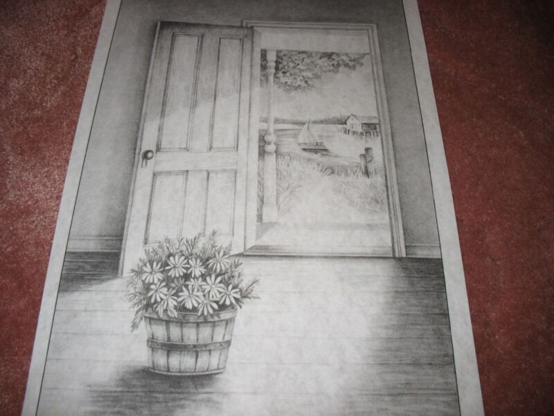* TRI CHEM 7590 OPEN DOOR DAISEYS BASKET BOAT  Picture to paint TRICHEM